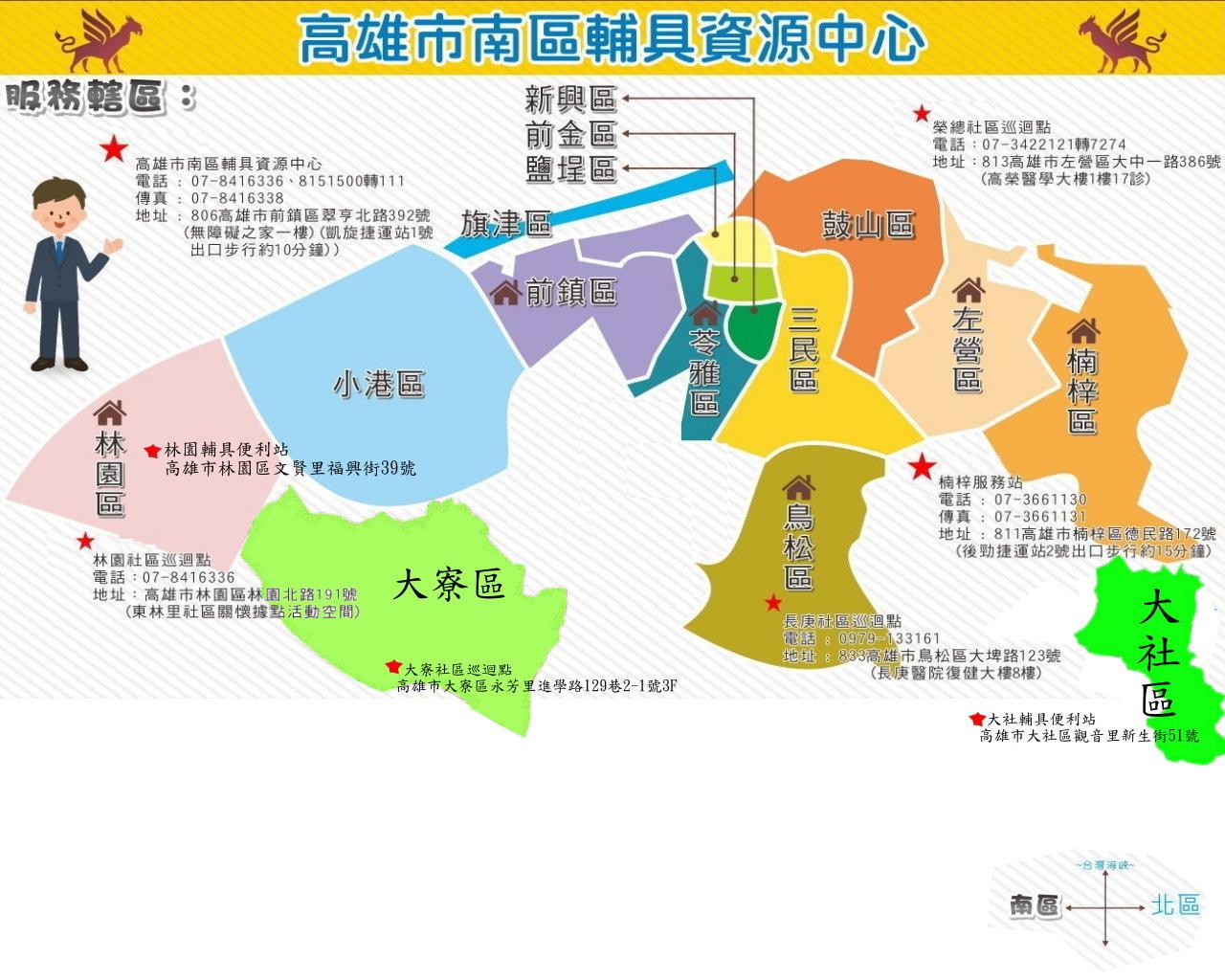 輔具中心地圖